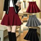 高腰針織裙子毛呢A字裙半身裙顯瘦裙 -A-235