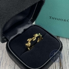BRAND楓月 TIFFANY&CO. 蒂芬妮 橄欖葉片造型 K金 金戒 配件 配飾 飾品 橄欖枝 金色