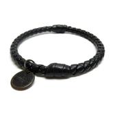 BOTTEGA VENETA 寶緹嘉 黑色羊皮單環手環 Lather Bracelet 【二手名牌BRAND OFF】