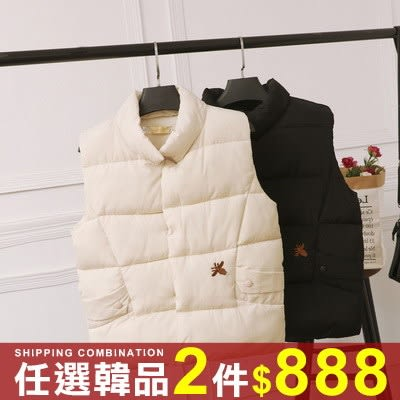 任選2件888背心外套顯瘦短版時尚百搭立領鋪棉背心外套【08G-F0685】