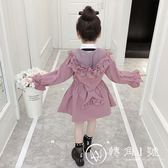 女童風衣外套秋裝2018新款韓版春秋中長款兒童秋季洋氣小女孩潮衣