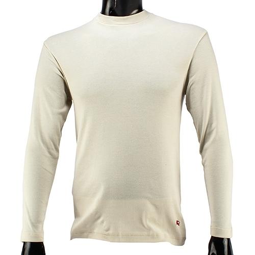 BURBERRY紳士透氣排汗棉質上衣L(米白色)085205-4
