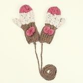 針織手套-羊毛手工編織條紋毛球麻花女手套4色73or18【巴黎精品】