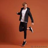 【GIORDANO】男裝連帽立領內植絨休閒外套(09 標誌黑)
