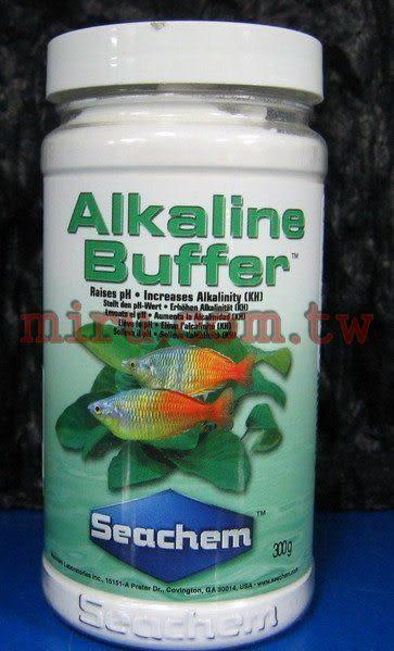 【西高地水族坊】美國原裝進口 西肯Seachem ALKALINE BUFFER水草pH、KH提升劑300g