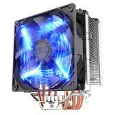 超頻三東海X5cpu散熱器 amd/775/1151智能溫控led風扇 cpu風扇【韓衣舍】