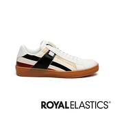 ROYAL ELASTICS Icon Cross 白黑紅真皮運動休閒鞋 (女) 92983-071