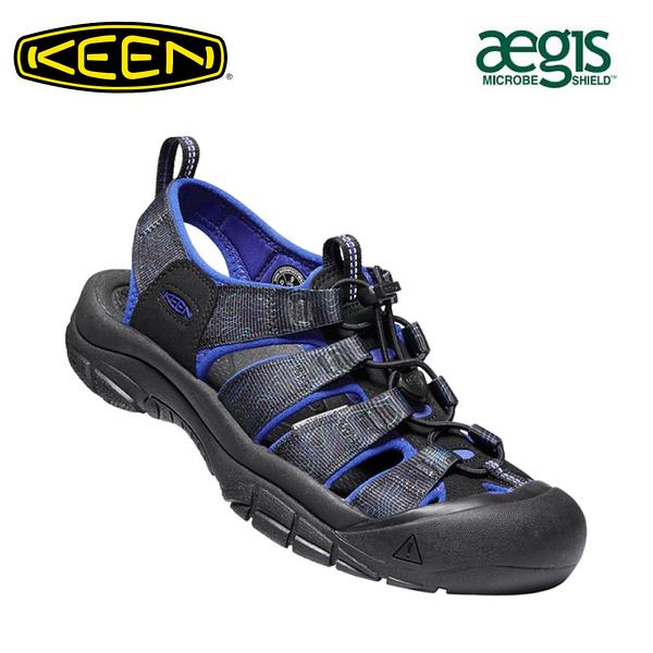 【KEEN 美國 男 NEWPORT H2 護趾涼鞋《寶藍/印花》】1023418/水陸兩用鞋/戶外休閒鞋/運動涼鞋