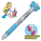 【五折】迪士尼 愛麗絲 蝴蝶結造型原子筆 黑紅雙色 disney 日本正版 該該貝比日本精品