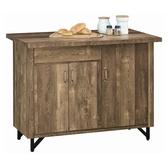 【森可家居】班克工業風4尺中島收納櫃 8JX490-3 中島桌 餐櫃 廚房收納櫃 吧台桌櫃 復古工業風