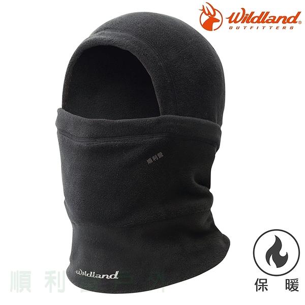 荒野WILDLAND 中性Pile保暖功能帽 W2002 黑色 刷毛帽 保暖帽 脖圍 口罩 不易產生靜電 OUTDOOR NICE