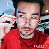 惡南宅急店【0041M】金屬切角平光眼鏡  韓版金屬架 網紅周揚青同款 眼鏡 平光眼鏡