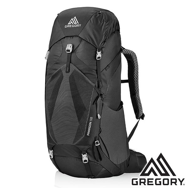 【美國 GREGORY】PARAGON登山背包 58L S/M『玄武黑』126846 登山|露營|專業健行背包|後背包