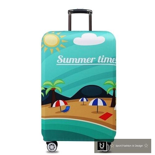 【US.STYLE】巴西海灘18吋旅行箱防塵防摔保護套