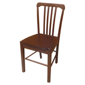【YFS】Elaine胡桃色實木餐椅-39x40.5x85cm