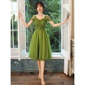 禮服 小個子晚禮服女夏季新款高貴優雅仙氣質生日宴會藝考平時可穿
