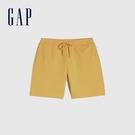 Gap男裝 純棉質感厚磅休閒短褲 690741-金黃色