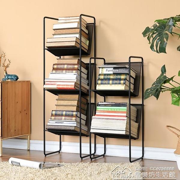 現貨 書架置物架鐵藝學生桌上放書的落地架子簡易窄小型小書架 YYJ【全館免運】