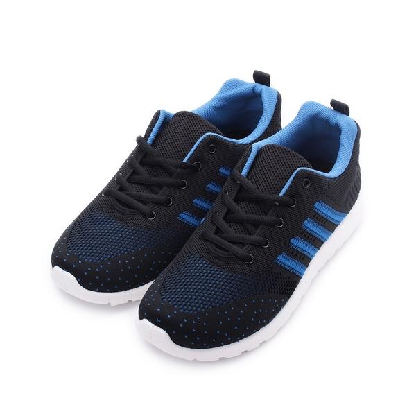 SARTORI 飛織綁帶休閒鞋 黑藍 男鞋