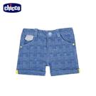 chicco-工程車-細格反折短褲