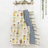 圍裙 圍裙韓版時尚廚房家用做飯罩衣防油半身純棉麻布北歐女工作服可愛歐萊爾藝術館