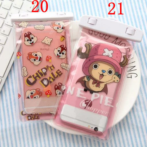 iPhone7  6plus note5 note4 S6 6吋下通用手機防水袋通用蘋果三星小米卡通可觸屏(最大防水深度:20M)