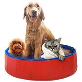 狗狗洗澡盆可折疊浴盆金毛寵物遊泳池spa浴缸大型犬泡澡貓咪用品80*20CM