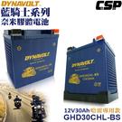 【DYNAVOLT 藍騎士】重機車電池 DYNAVOLT 奈米膠體電池 GHD30CHL-BS
