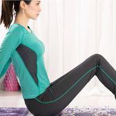 瑜伽服 套裝女新款長袖性感時尚健身服健身房運動套裝女秋 df4420【潘小丫女鞋】