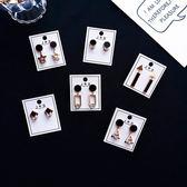 耳環 簡約 個性 幾何 鏤空 拼接 鑲鑽 氣質 耳釘 耳環【DD1806111】 BOBI  10/04