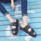 潮流夏男女一字韓版防滑情侶越南半拖鞋JD1240 【KIKIKOKO】