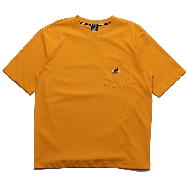 KANGOL 短袖 短T 黃 胸前口袋 袋鼠 棉 男 (布魯克林) 6021100862