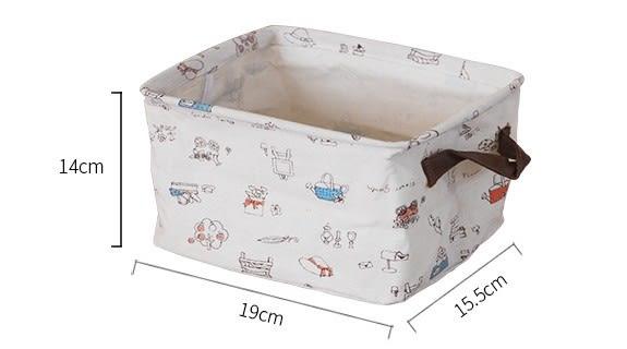 [協貿國際]棉麻布收納盒帶把手單個價