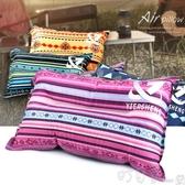 戶外自動充氣枕頭旅行野營露營辦公室午休睡枕便攜汽車飛機靠枕 町目家