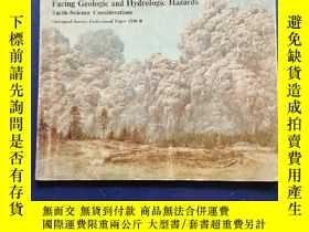 二手書博民逛書店facing罕見geologic and hydrologic hazardsY234641 看圖 看圖