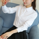 特惠大尺碼!女職業裝白襯衫女秋裝韓版上衣學生時尚百搭長袖氣質工作上班衣服