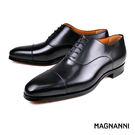 【MAGNANNI】經典橫飾牛津皮鞋 黑色(18235A-BL)
