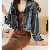 牛仔外套女春秋新款港味短款流行很仙的外套森女寬鬆夾克上衣新年交換禮物