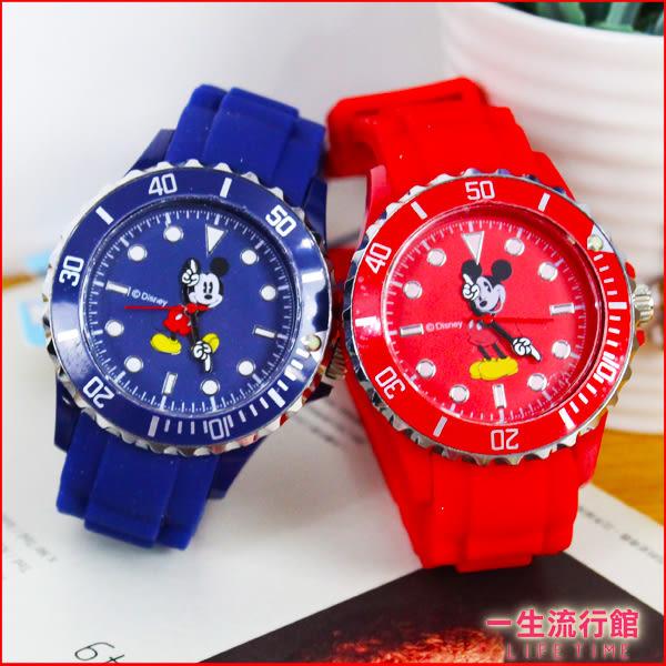 迪士尼 米奇 正版 卡通 手錶 女錶 男錶 矽膠錶帶石英手錶 兒童錶 H01048