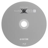 ◆免運費◆錸德 Ritek 藍光 空白燒錄片 Blu-ray X版 BD-R 4X DL 50GB 光碟燒錄片(10P布丁桶)x1