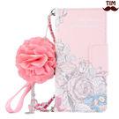 送吊飾 蘋果 IPhone X 8 7 6 Plus 手繪玫瑰 皮套 碎花 韓系 手機殼 插卡 軟殼 保護套