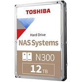 Toshiba N300 12TB 3.5吋 SATA NAS 硬碟 HDWG21CAZSTA