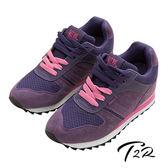 【韓國T2R】玩色系列內增高休閒運動鞋女鞋 紫 ↑8cm (5600-0124)