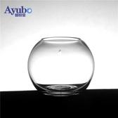 創意魚缸小型微景觀桌面玻璃魚缸生態金魚缸造景客廳斗魚藻球缸