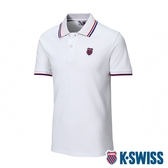 K-SWISS Ks Jacquard Yoke Polo短袖POLO衫-男-白