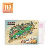 JB Design 畫布明信片660_ 鐵道