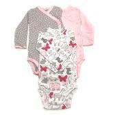 Carter s 長袖包屁衣 側扣三件組 純棉粉 女寶寶【CA126G985】