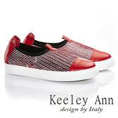 ★零碼出清★ Keeley Ann 自然享樂~全真皮素面串珠休閒鞋(紅色)-Ann系列
