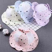 兔耳圓點透氣漁夫盆帽 帽子 漁夫帽 童帽 防曬用品 遮陽用品