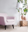 【歐雅系統家具】特維克單人布沙發-粉紅 / 北歐風 / 粉色 / 歐洲沙發專用布 / 單人 / 椅子 / 沙發